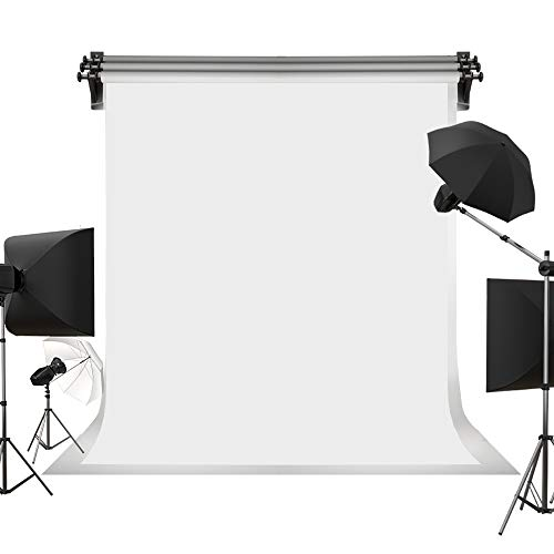 Kate 5ft×7ft Solid White Backdrop Portrait Background for Photography Studio Children and Headshots Background for Photography Video and Television