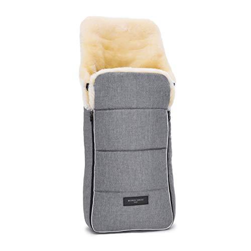 Lammfell Kinderwagen-Fußsack AROSA von WERNER CHRIST BABY– kuscheliger Buggy Lammfell-Fußsack, medizinisches Fell, als Wickelunterlage & Kinderwageneinlage verwendbar, in grigio (grau-melange)