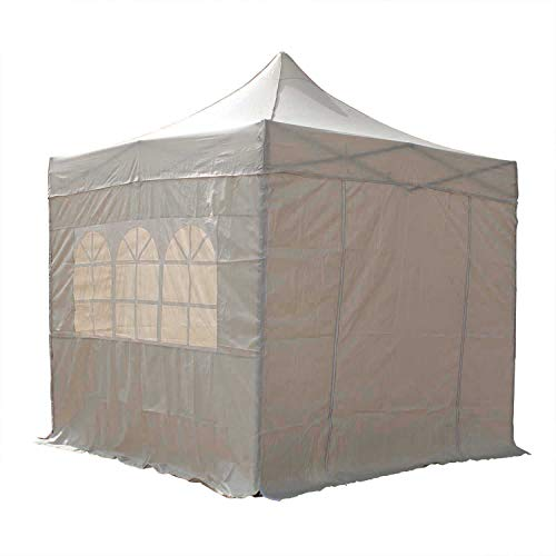 AIRWAVE Gazebo Four Seasons Essential Pop Up with Sides Waterproof 2.5 x 2.5m (Beige)