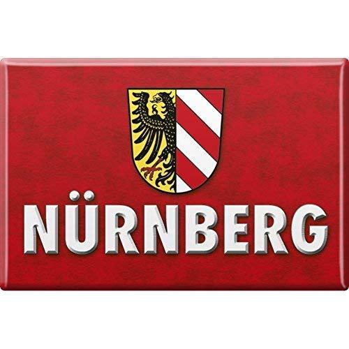 Magnet - Wappen Nürnberg - Gr. ca. 8 x 5,5 cm - 38766 - Küchenmagnet
