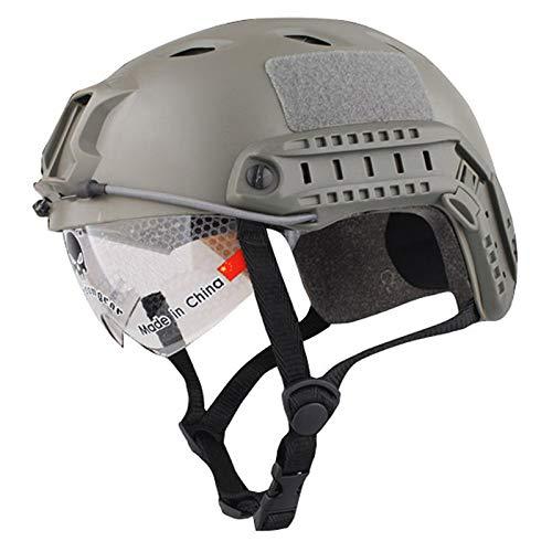 Lichtgewicht Winddichte Anticollision Helm met Goggles Militaire Shooting Helm Paintball Gezichtsmasker