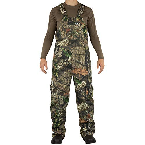 Mossy Oak Men's Cotton Mill 2.0 Camouflage Hunting Bib Overall in Multiple Camo Patterns, Break-Up Country, Medium