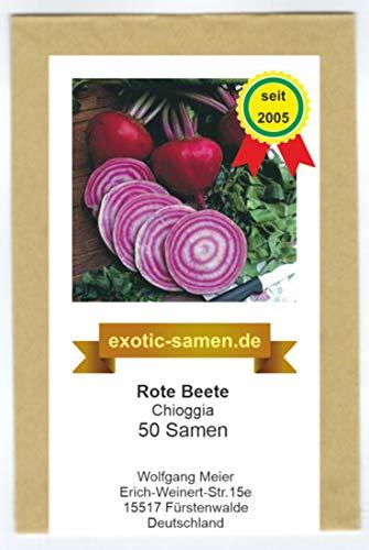 Rote Beete - Bete – Rübe - Beta vulgaris subsp. vulgaris – Chioggia - 50 Samen