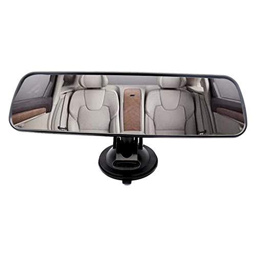 WSTERAO Espejo retrovisor para automóvil Espejo Interior Universal Espejo con Ventosa, Espejo retrovisor panorámico Espejo retrovisor Interior automático Espejo Interior Universal para automóvil