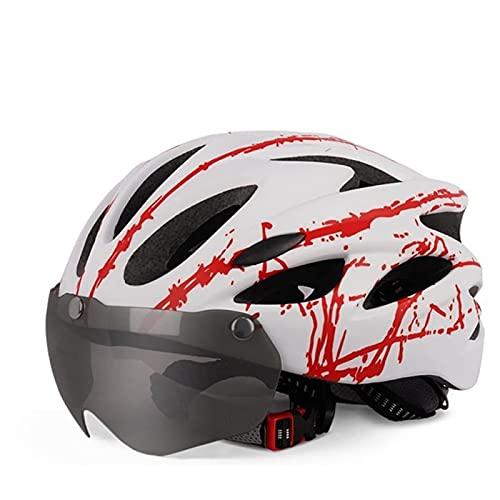 Peakfeng Casco de Bicicletas, Casco Protector Riding General Helmet Road Bike Helmet Hombres y Mujeres Casco (Color: Rojo)
