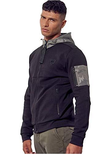 Kaporal - Sweatshirt zippé régular Homme à Capuche - Briac - Homme - M - Noir