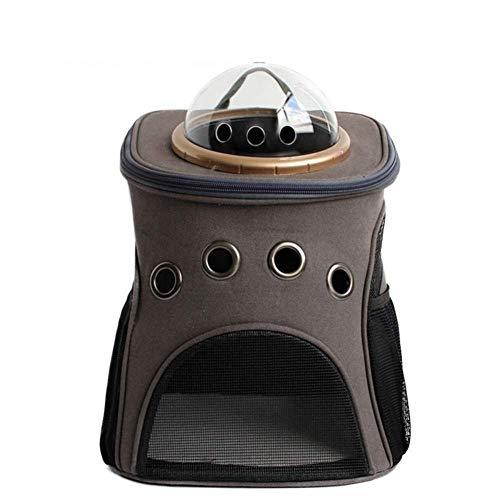 QIAOYI Mochila para Mascotas Bolsa De Espacio Transpirable De Doble Hombro Bolsa De Hombro Creativa para Perros Bolsa De Hombro Doble para Mascotas Fuera De La Línea Bolsa De Gato Portátil,Brown
