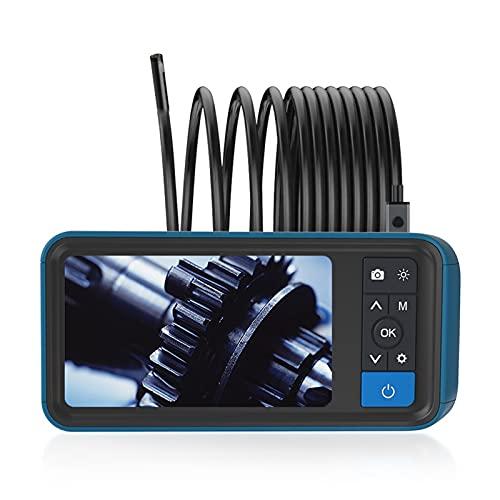 Cámara de Inspección, Endoscopio Industrial Prueba Agua 8 Mm 1080P HD Boroscopio Digital con Endoscopio Lente Dual IPS 4,5 Pulgadas Boroscopio Industrial (16,4 Pies)