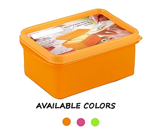 GALOOF Butter Box Case Container Multi-Color Plastic (700ml=500g Butter Cube)
