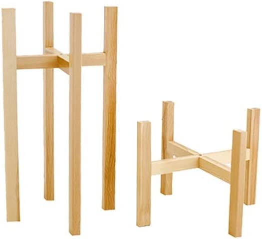 L;IAN Modern 2-Piece Plant 40% OFF Cheap Sale Stand Wooden Flowe Standing Portable Max 77% OFF