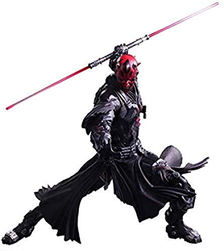 WXxiaowu Variant Play Arts Kai Darth Maul PVC Painted Action Figure - Alien War Action Characters - Equipped with Weapons and Replaceable Hands - High 25CM