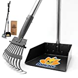 Bodhi Dog New and Improved 42.9' Adjustable Metal Pooper Scooper | Tray and Rake with Long Secure Handle | Perfect Pet Poop Picker Upper for Small and Large Dogs - Great for Grass, Street and Gravel