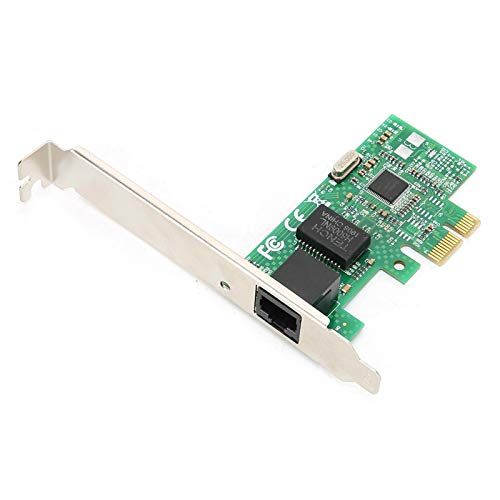 PUSOKEI Tarjeta de Red Gigabit, PCIE 10/100 / 1000Mbps PCI Express Tarjeta de Red inalámbrica de un Solo Puerto para Windows XP / Windows7 / Windows8 / Windows10