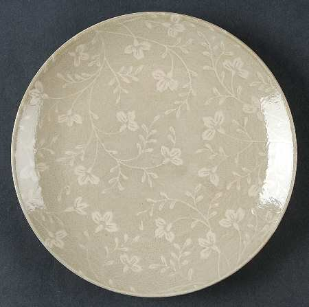 Sango Fresh Flowers-Gray Salad Plate, Fine China Dinnerware
