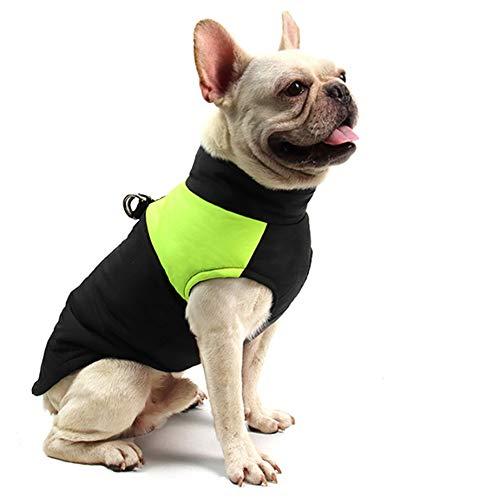 FEimaX Hundemantel für Hunde, Hundejacken Wasserdicht Warme Jacke für Kleine Mittelgroße Große Hunde Winterjacke Warm Gepolstert Welpen Weste Haustier Kleidung für Kaltes Wetter (S, Grün)