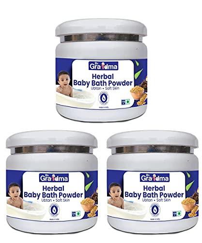 Atome ByGrandma Homemade Herbal Baby Bath Powder Full Body Wash for Babies   Smooth Skin for Baby   Natural Body Wash for Baby   750 Gram