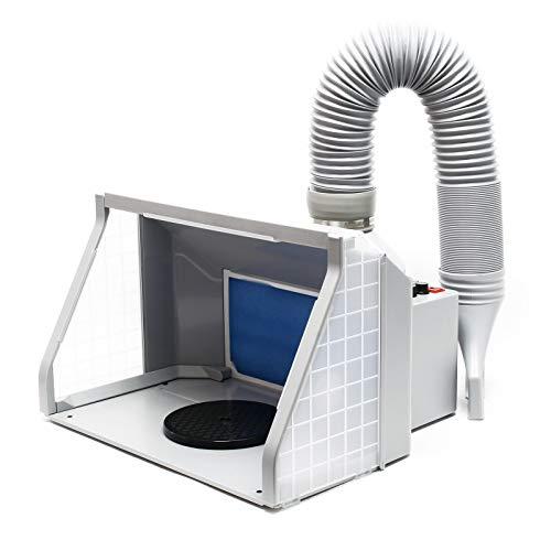 Wiltec Absauganlage 9m³/min mit LED-Beleuchtung, Drehregler und Doppellüfter, regulierbar