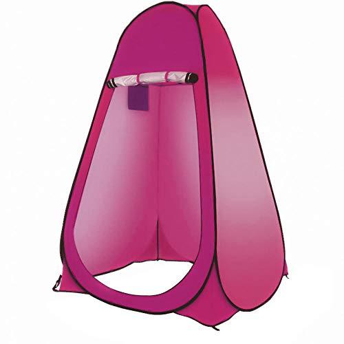 Likejj - Tienda de campaña desplegable para inodoro, tiendas de campaña de ducha y tiendas cambiadoras con revestimiento plateado, resistente al sol y opaco 1.2*1.2*1.9 morado
