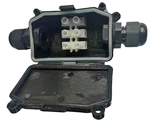 Pro Elec PEL01159 Abzweigdose mit Klemmblock, wasserdicht, IP65, Schwarz