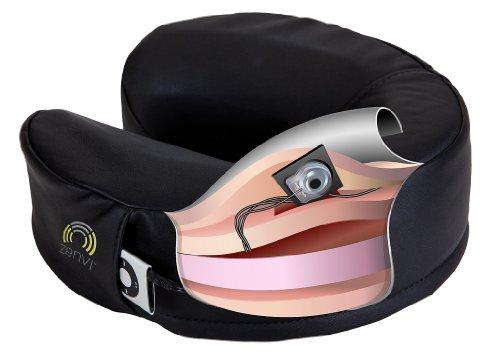EARTHLITE Zenvi Sound Face Cradle Cushion - iPhone, iPod, MP3 Compatible, Rechargeable Headrest Pillow, Black