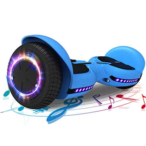 TOMOLOO Music-Rhythmed Hoverboard 6.5 inch Electric Scooter- UL2272 Certificated with...