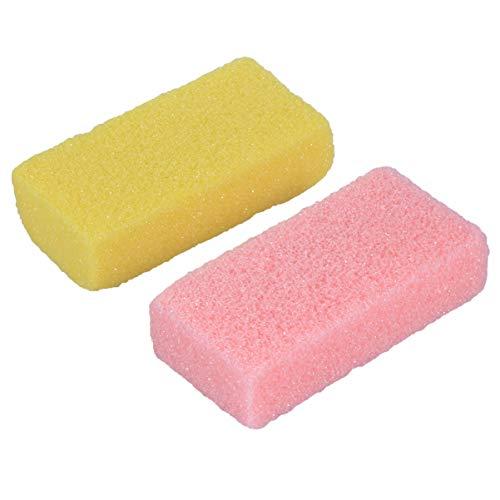 Exceart 2 Stück Schwamm Füße Haut Fuß Stein Dusche Tote Haut Wäscher für Füße Kallus Hautreinigung Massagewerkzeug (Zufällige Farbe)