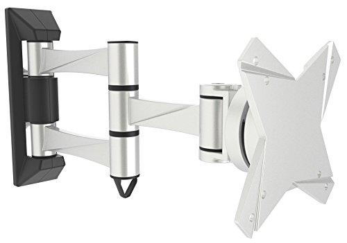 RICOO S1811, Monitor-Halterung, Schwenkbar, Neigbar, Universal (13-32 Zoll (33-81 cm)) Aluminium, Wand-Halterung, Bildschirm-Halterung, Wand-Halter, TFT-, LCD-, LED-Monitore, VESA 75x75 100x100, Silber