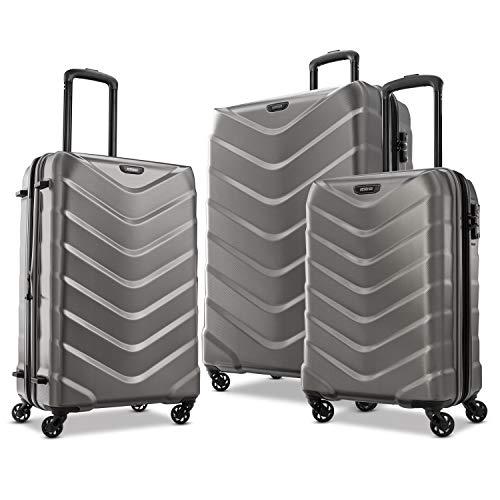 American Tourister Arrow Expandable Hardside Luggage, Charcoal, 3-Piece Set (21/24/28)