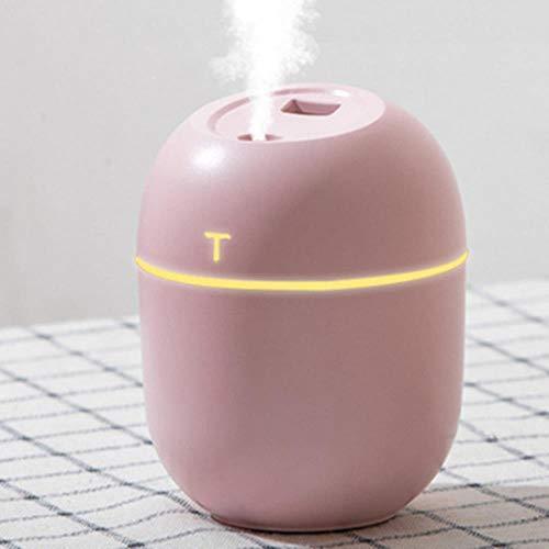 Coner Ultrasonic Mini Air Humidifier 200ML Aroma Essential Oil Diffuser for Home Car USB Fogger Mist,Pink