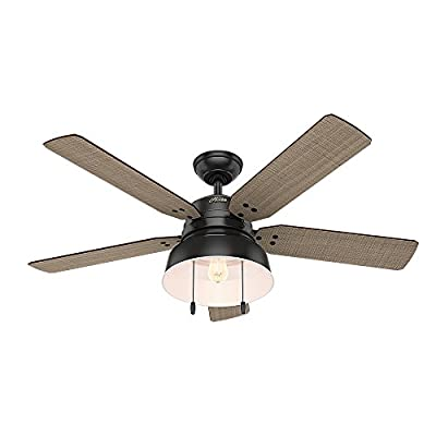 Hunter Mill Valley Indoor / Outdoor Ceiling Fan with LED Light and Pull Chain Control