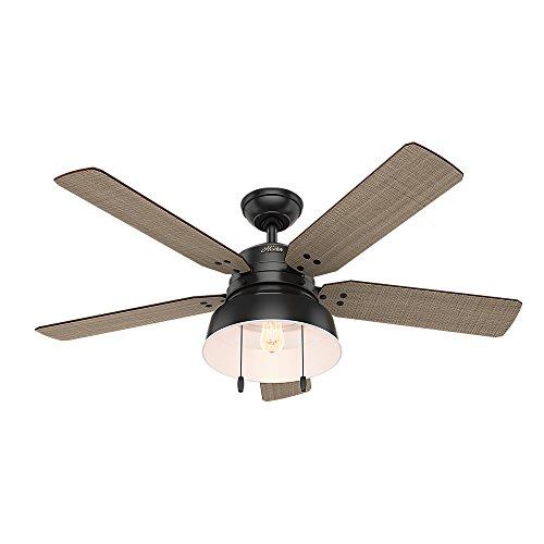 Hunter Fan Company 59307Mill Valley 52'ventilador de techo con luz, grande, negro mate
