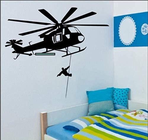 Rettungshubschrauber Wandtattoo Schlafzimmer Büro Vinyl Wandaufkleber Aufkleber Aufkleber 84X95Cm