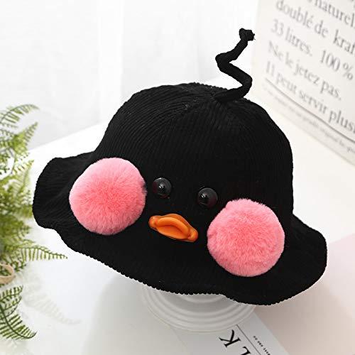 mlpnko Sombrero de niños Sombrero de Pescador Visera Sombrero de bebé Negro 44-50cm