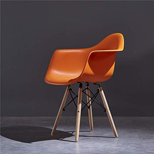 LQJYXD Schoenkruk Stoel Nordic Solid Wood Discussion Stoel Eettafel Ontwerper Koffie Nagel Stoel Mode (kleur : Oranje)