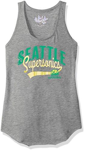 Touch by Alyssa Milano NBA Seattle Supersonics Rookie Tank, Medium, Heather Grey