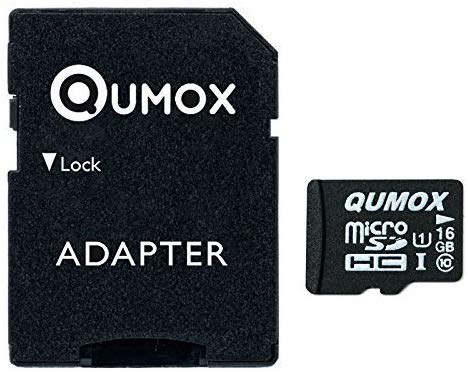 QUMOX 128GB Micro SD Memory Card Class 10 UHS-I 128 GB 128Go Go Carte mémoire HighSpeed Write Speed 30Mo/S Read Speed Upto 80Mo/S
