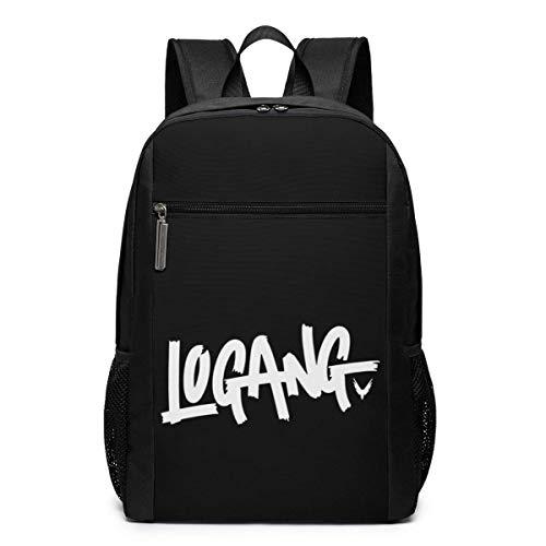 Lo-gan Paul Log-a-ng School Backpack for Girls Boys Kids Teens, Unisex Lightweight Backpack for Men Women College Schoolbag Laptop Backpack