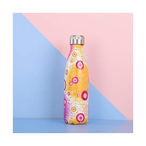 rongshengxinye Botella de agua de 500 ml, botella de agua al vacío, para deportes al aire libre, botella portátil termo para taza con aislamiento de té (color: Style6)