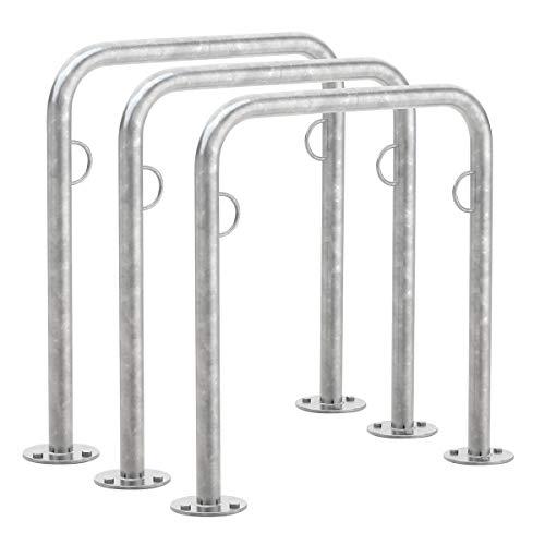 WSM Fahrradanlehnsystem TRUST11, Stahlrohr verzinkt, VE 3 Stück - Fahrradständer und Fahrradhalter bicycle stands holders