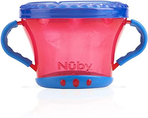 Nuby ID5409ORANGE Pot à biscuits, 12+ mois, Couleurs Assorties, 1 Pièce