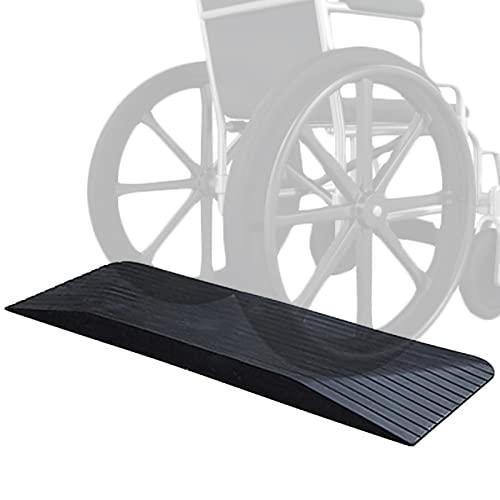 Rampas Rampa Rampas de umbral para sillas de ruedas para portales, Antideslizante Paso Rampa de acera para escaleras Cortacésped Robot barredora Scooters 43, 5 pulgadas Amplio