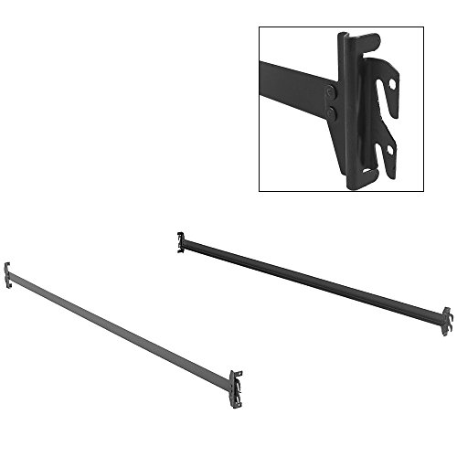 Leggett & Platt 75-Inch Bed Frame Side Rails 140H with Hook-On Brackets for Headboards and Footboards (No Carton), Twin - Full