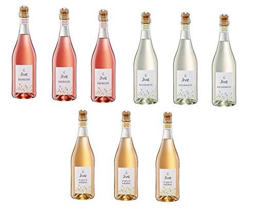 9 Flaschen Jive Mix 4 Sorten Holunderblüte Erdbeere Pfirsich Maracuja a 750ml