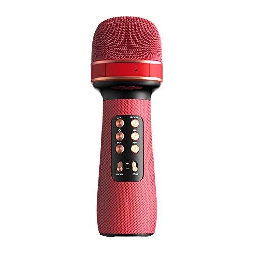 Micrófono inalámbrico, Karaoke Bluetooth Micrófono portátil de mano Karaoke máquina altavoz para el hogar fiesta KTV cantar al aire libre, compatible con Android/iOS/PC