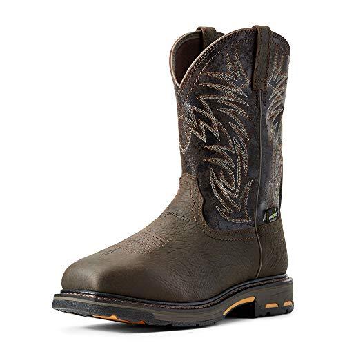 Ariat Men's Workhog Wide Square Toe Metguard Waterproof Metguard Composite Toe Work Boot