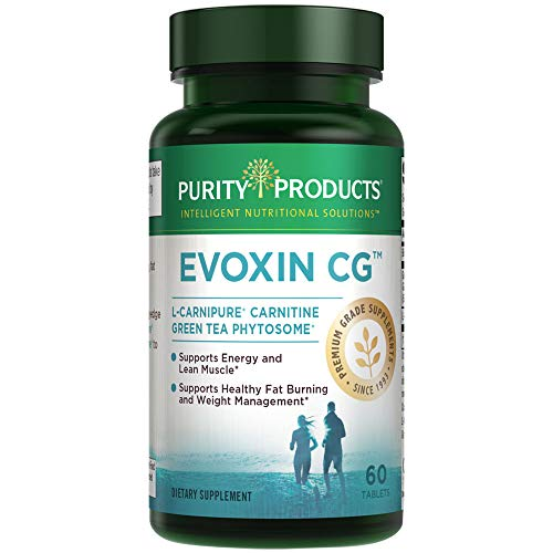 Evoxin CG - Metabolic Shift - from Purity Products - Powerful L-Carnitine and Green Tea Phytosome Combination - Supports Healthy Fat Burning, Weight Management, Energy and Lean Muscle - 60 Tablets