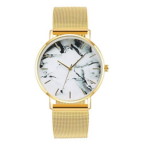 SIMEISM Moda malla banda creativo mármol reloj mujeres lujo cuarzo relojes señoras moda todo partido relojes