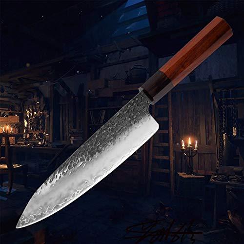Cuchillo de chef tres capas 58 ± 2 HRC Cuchillo de cuchillo de cocina forjado de acero inoxidable compuesto Cuchillo de cocción de hueso (Color : Chef Knife)