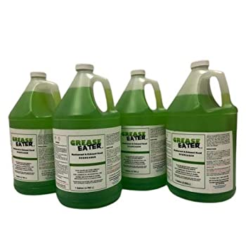 Grease Eater Degreaser - 4 Gal Case - Hood Cleaner Preferred Super Strong - Concentrated