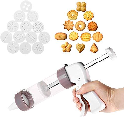 Relaxbx Cookie Biscuits Press Machine Bakeware Conseils de décoration de gâteaux Pistolet à glacer Plus Kit de Cuisson 13 moules avec Outil de Cuisine à 6 Buses Violet